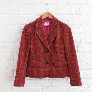 Talbots 100% Wool Jacket Blazer Terracotta Brown 2